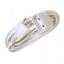 VOLTMAN Rallonge électrique - 6A - 5m - Blanc