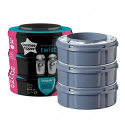 Tommee Tippee - Recharges poubelles Twist & Click x3 - Compa