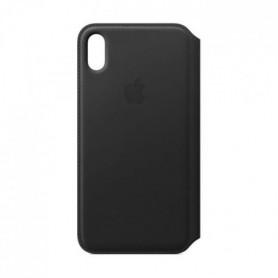 Étui folio en cuir pour iPhoneXSMax - Noir