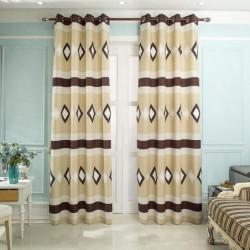 HOME TREND Paire de rideaux 140 x 260 cm Jacquard Losange -