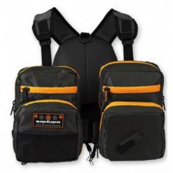 SAKURA Sac de peche Chest Packer - Orange et noir