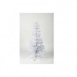 Sapin de Noël artificiel - H 90 cm - 80 branches - Blanc col