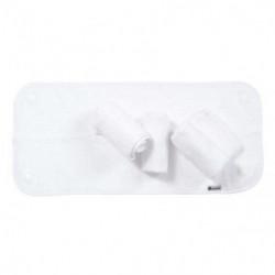 CANDIDE Lot de 4 serviettes éponges blanches pour matelas a