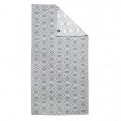 DONE Drap de douche Ethno - 70x140 cm - Argent et blanc