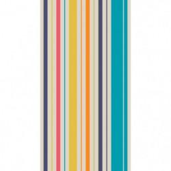 TODAY Drap de Plage 100% Coton 90x170 cm - Bleu et blanc