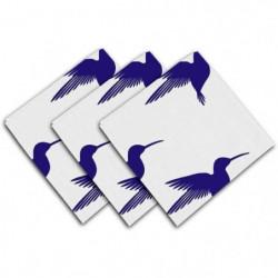 SOLEIL D'OCRE Lot de 3 serviettes de table Colibri - 40x40 c