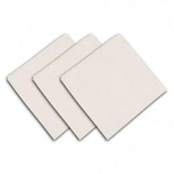 SOLEIL D'OCRE Lot de 3 serviettes de table Panama - 45x45 cm