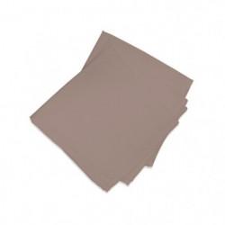 SOLEIL D'OCRE Lot de 3 serviettes de table ALIX - Marron Mok