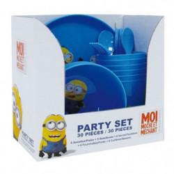 LES MINIONS Party Set de 30 pieces
