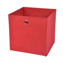 HOMEA Panier de rangement intissé 31x29x31 cm rouge
