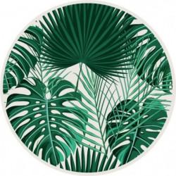 Set de table vinyle rond - 38 x 38 cm - Motif Jungle