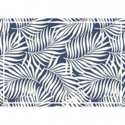Set de table vinyle 1,5mm - 35 x 49,5 cm - Blanc et bleu