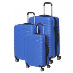 BERENICE Lot de 3 Valises Trolley Rigide ABS - 8 Roues - 50-
