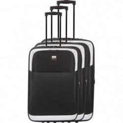 FRANCE BAG - Set de 3 valises extensibles 2 roues - Noir