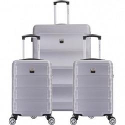 FRANCE BAG Set de  3 Valises ABS Argent
