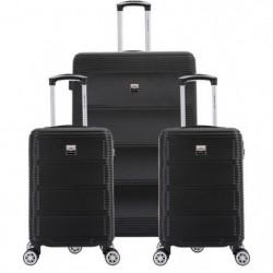 FRANCE BAG Set de  3 Valises ABS Noir