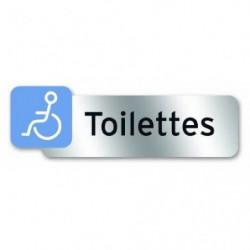 Plaque indicatrice Toilette handicapé - Polycarbonate adhési