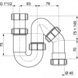 WIRQUIN Siphon d'évier S - Sortie orientable