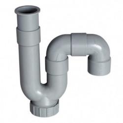 WIRQUIN Siphon de lavabo - PVC - Sortie horizontale ou verti