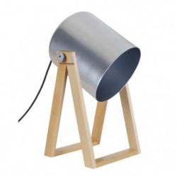 SPIELBERG Lampe spot acier - 16x20x30cm - Naturel/Aluminium