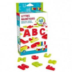 SMOBY 48 Lettres Magnétiques Majuscules Rouge/Vert