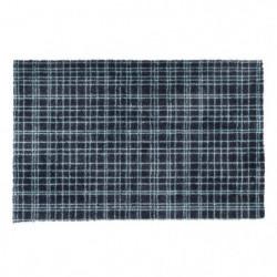 Tapis d?entrée FUSION DRY - Noir rayé bleu - 60x100 cm - Sup