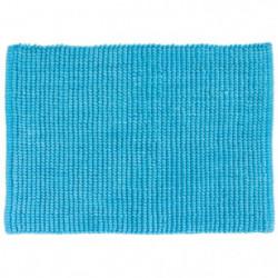 GIPSY Tapis de bain - Polyester microfibre - 40x60 cm - Bleu