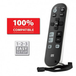 ONE FOR ALL URC6810 Télécommande universelle Zapper TV