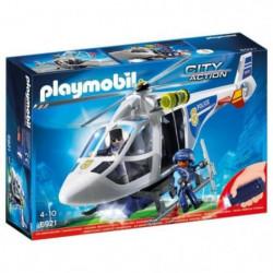 PLAYMOBIL 6921 - City Action - Hélicoptere de Police avec Pr