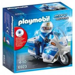 PLAYMOBIL 6923 - City Action - Moto de Policier avec Gyropha