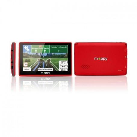 MAPPY ITI E-438 GPS Slim Rouge avec Housse