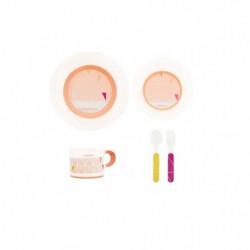 BABYMOOV Coffret vaisselle Anti-dérapante Peach