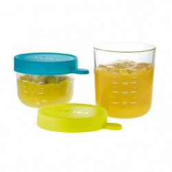 BEABA Coffret 2 portions verre 150ml blue, 250ml neon