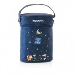 MINILAND BABY Sac isotherme Thermibag denim double  - 0 M+
