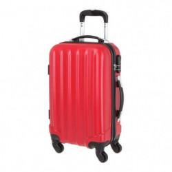 Valise en ABS Rouge 4 Roues 50x35x20 cm