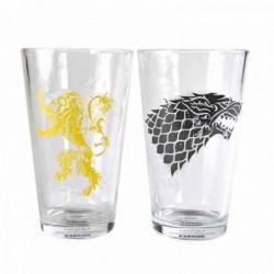 Set de 2 verres Game Of Thrones: Stark & Lan