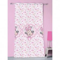 Voilage a oeillets rose Minnie Mouse 140x240cm