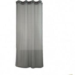 Voilage uni a rayures verticales - 140x240cm - 100% polyeste
