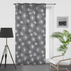 SOLEIL D'OCRE Voilage a oeillets Lionel - 135 x 250 cm - Gri