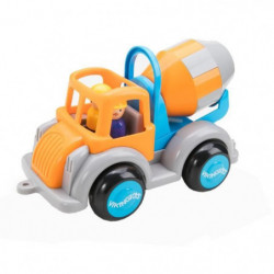 VIKINGTOYS Camion toupie - Orange et bleu - 25 cm