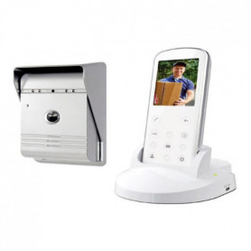 """SMARTWARES Interphone vidéo sans fil VD36W 2,4"""""""
