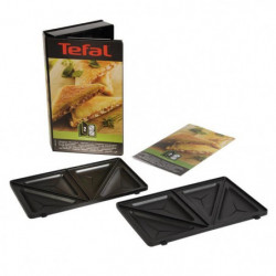 TEFAL Accessoires XA800212 Lot de 2 plaques croque triangle