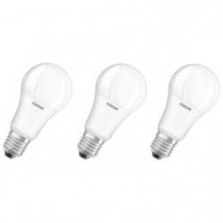 OSRAM Lot de 3 Ampoules LED E27 standard dépolie 14 W