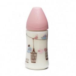 SUAVINEX Pack de 2 biberons Baby Bottle - 270 ml - Rose