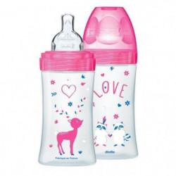 DODIE Coffret x2 Biberons Sensation+ 270 ml Fushia Love