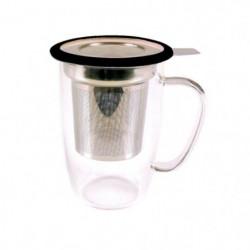 YOKO DESIGN Mug tastea en verre avec filtre inox coupelle