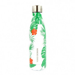 YOKO DESIGN Bouteille isotherme Tropical - Vert - 500 ml