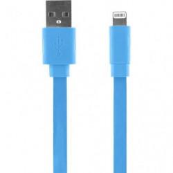 BIG BEN Cable iPhone 5 - Bleu - 20 cm