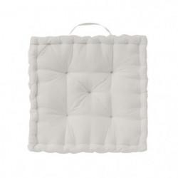TODAY Coussin de sol Coton - 50 x 50 x 12 cm - Blanc ivoire