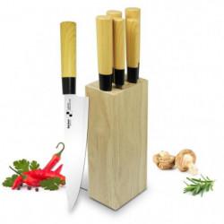 BACKEN 310602 - Bloc Couteaux de cuisine 6 pieces